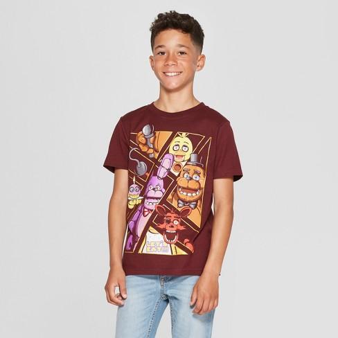 79acf739e Boys' Five Nights At Freddy's Short Sleeve T-Shirt - Maroon : Target