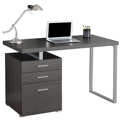 computer desk with drawers gray everyroom target rh target com desks with drawers on left side desks with drawers cheap