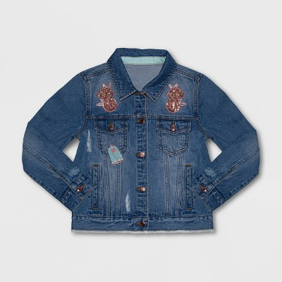 Girls' Disney Belle Denim Jacket - Blue - Disney Store