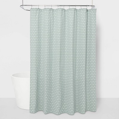 """72""""x72"""" Textured Striped Shower Curtain Light Gray - Project 62™"""