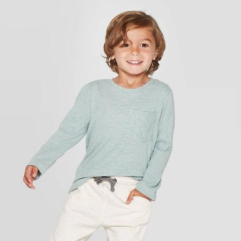 Toddler Boys' Long Sleeve T-Shirt - Cat & Jack™ Green - image 1 of 3