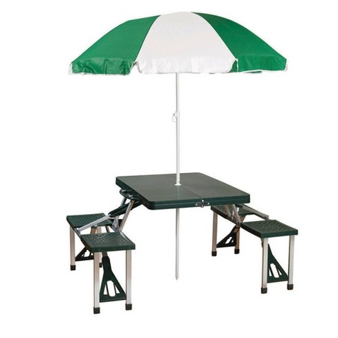 Stansport Picnic Table and Umbrella Combo - Green - image 1 of 3