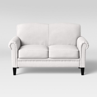 Belmont Rolled Arm Loveseat Cream - Threshold™