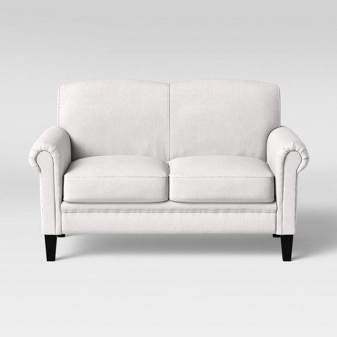 Belmont Rolled Arm Loveseat Cream - Threshold™ - image 1 of 4