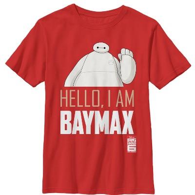Boy's Big Hero 6 Hello, I Am Baymax T-Shirt