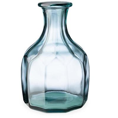 VivaTerra Zeta Geometric Recycled Glass Vase