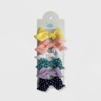 Baby Girls' 6pk Jersey Bow Hair Clips - Cloud Island™