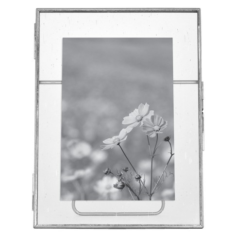 Pressed Glass with Seeded Glass Frame - Threshold™ - image 1 of 4