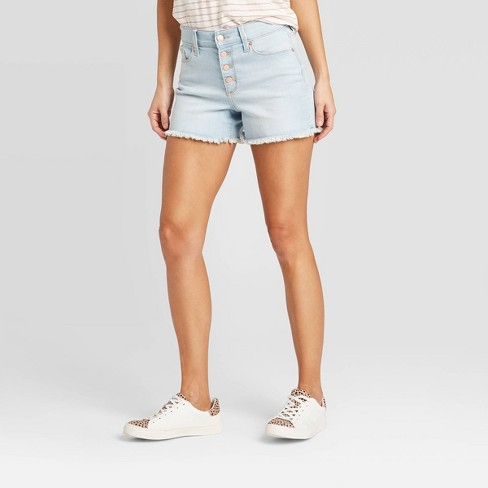 Women's High-Rise Slim Fit Jean Shorts - Universal Thread™  - image 1 of 3