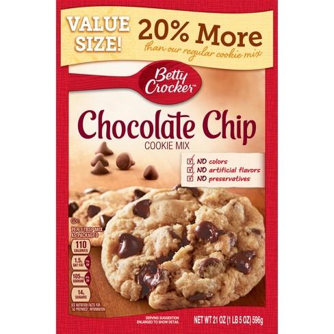 Betty Crocker Chocolate Chip Cookie Mix - 21oz : Target