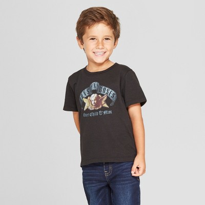 Toddler Boys' Guns N' Roses Short Sleeve T-Shirt - Black