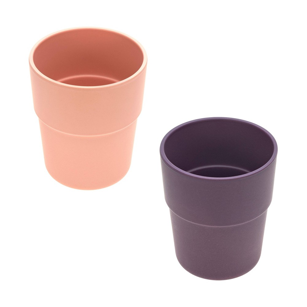 Image of Lassig Bamboo Mug Set - 2pc Peach/Plum, Pink/Purple