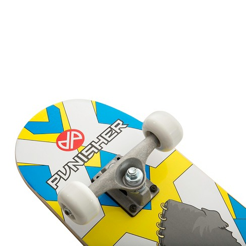 "Punisher Skateboards Warphant 31.5"" Blue and Yellow Skateboard - image 1 of 5"