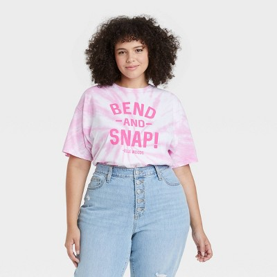 Women's Legally Blonde Bend and Snap Short Sleeve Graphic T-Shirt - Pink Tie-Dye
