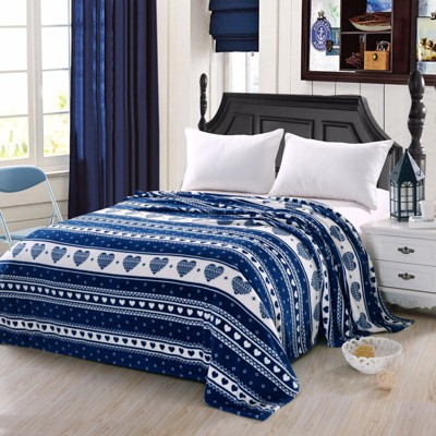 Plazatex Heartfelt Valentine Micro Plush Blanket Navy