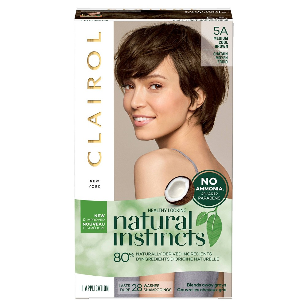 Image of Natural Instincts Clairol Non-Permanent Hair Color - 5A Medium Cool Brown, Clove - 1 Kit, 5A - Medium Cool Brown