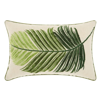 Leaf Throw Pillow Green - Mina Victory
