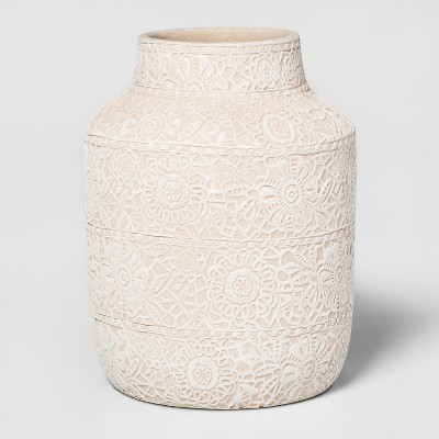 8  x 6  Earthenware Lace Vase White - Threshold™