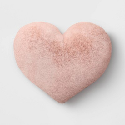 Oversized Faux Fur Valentine's Day Heart Pillow - Opalhouse™