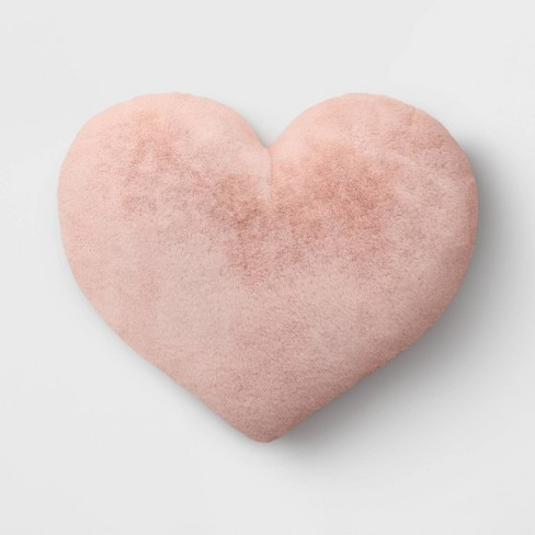 Oversized Faux Fur Valentine's Day Heart Pillow - Opalhouse™ - image 1 of 4