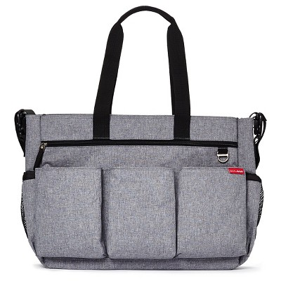 Skip Hop Duo Double Signature Diaper Bag - Heather Gray