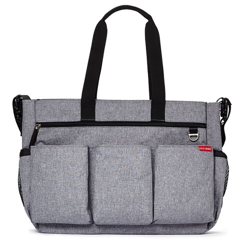 Skip Hop Duo Double Signature Diaper Bag Heather Gray