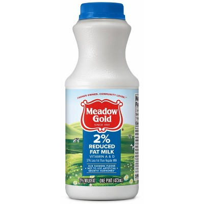 Meadow Gold 2% Reduced Fat Milk - 1pt