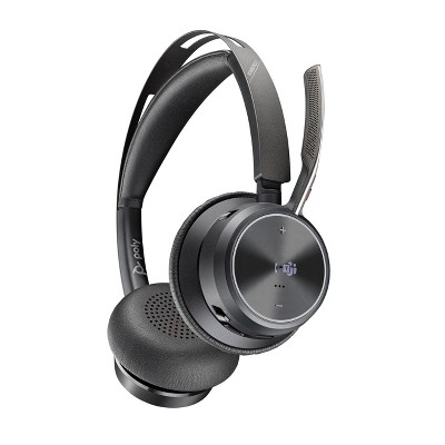 Poly Voyager Focus 2 UC USB-C Headset (Plantronics) - Bluetooth Dual-Ear (Stereo) Headset with Boom Mic - USB-C PC / Mac Compatible - Active Noise Canceling - Works with Teams (Certified), Zoom & more