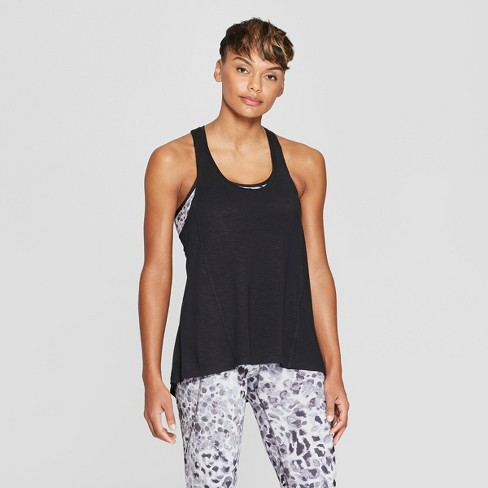 4f230f846e2e7 Women's 2-in-1 Tank Top - C9 Champion® Black/Gray Leopard Print XS ...