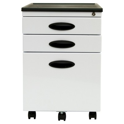 Element Mobile File Cabinet White - Studio Designs