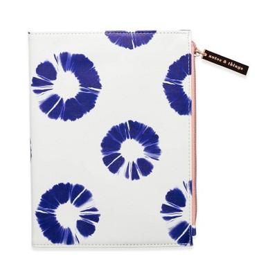 Leatherette Journal with Zipper Pouch Indigo Batik - DesignWorks Ink