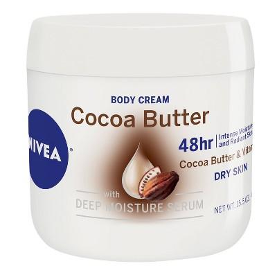 NIVEA Body Cream with Deep Moisture Serum - Cocoa Butter - 15.5oz