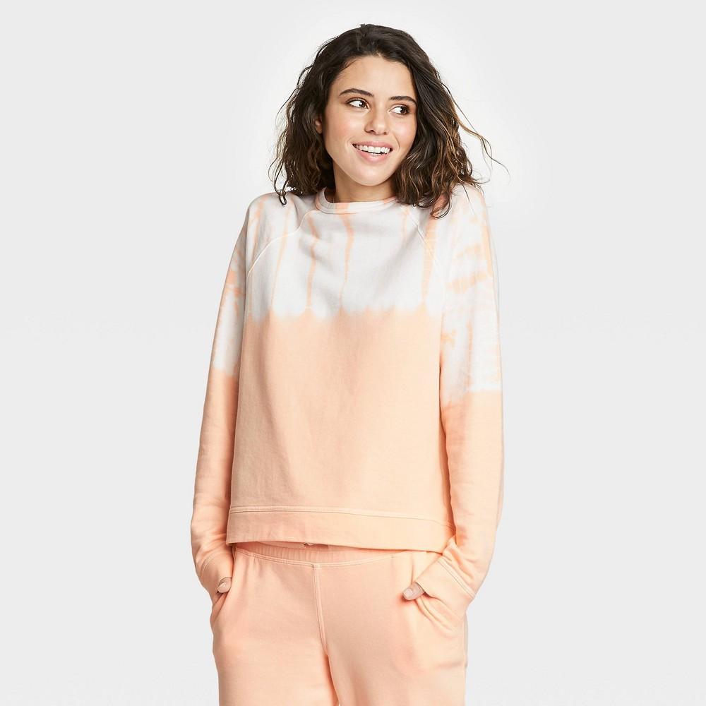 Women 39 S Tie Dye Sweatshirt Universal Thread 8482 Orange White Xxl