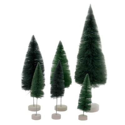 """Christmas 16.0"""" Rainbow Trees Teal Bottle Brush  -  Decorative Figurines"""