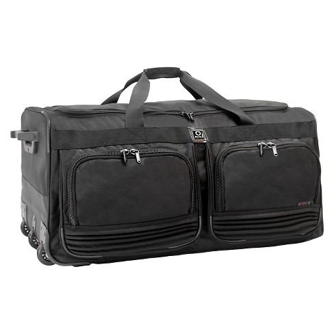 J World Brighton Rolling Duffel Bag Black