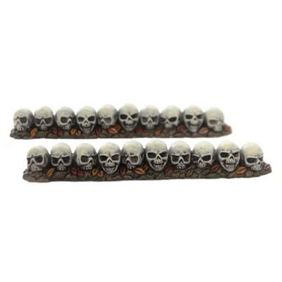 "Department 56 Accessory 0.5"" Row Of Skulls Straight Halloween Hedge  -  Decorative Figurines"