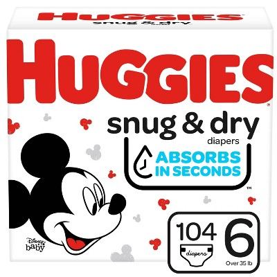 Huggies Snug And Dry Diapers Huge Pack - Size 6 - 104ct