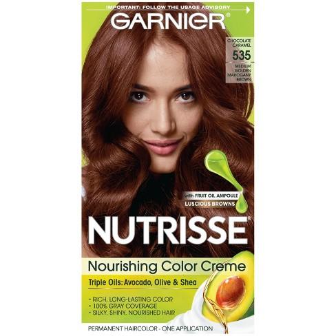 Garnier Nutrisse Nourishing Color Creme 535 Medium Golden Mahogany
