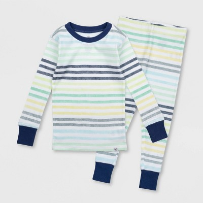 Honest Baby Toddler Boys' Striped Snug Fit Pajama Se