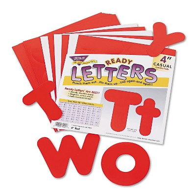 """Trend Ready Letters Casual Combo Set Red 4""""h 182/Set T79902"""