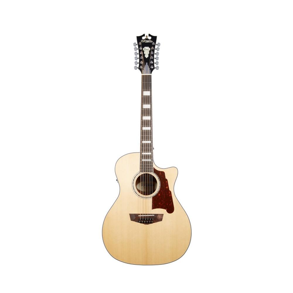 D'Angelico Premier Fulton 12-String Acoustic-Electric Guitar - Natural, Doe