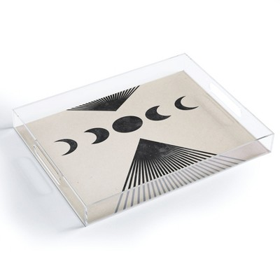 Emanuela Carratoni Moon Phases on Mountains Acrylic Tray - Deny Designs