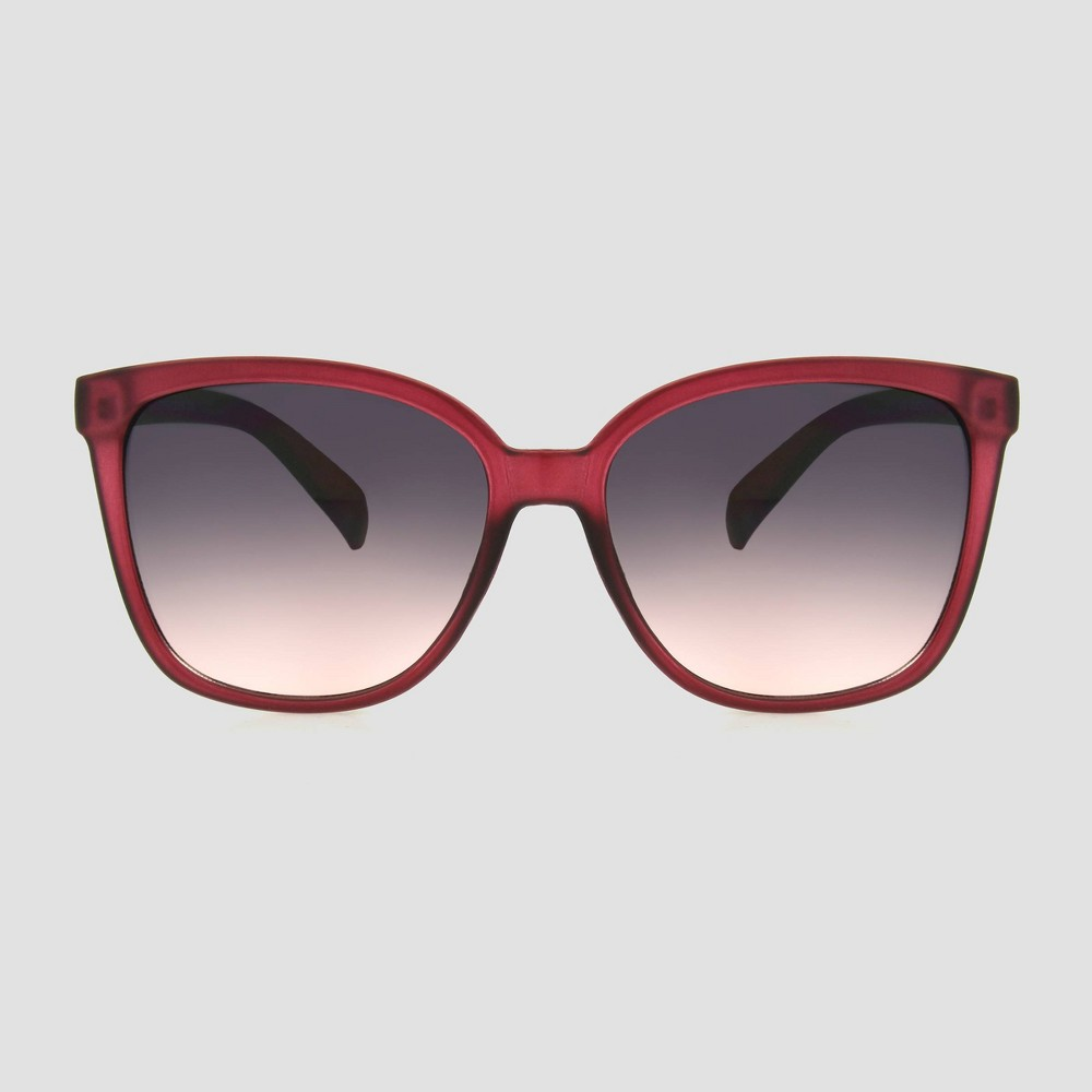Women 39 S Crystal Square Plastic Sunglasses A New Day 8482 Burgundy