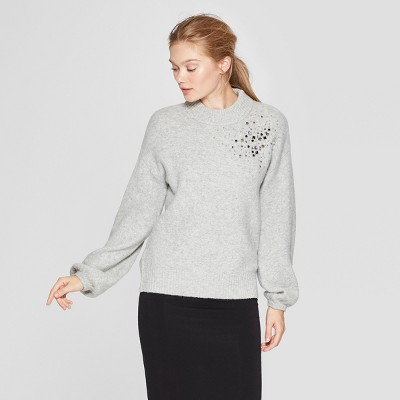 Women's Embellished Pullover Sweater   A New Day™ by A New Day