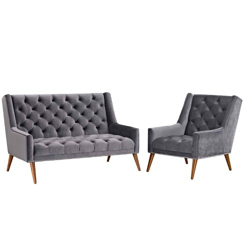 2pc Peruse Living Room Set Velvet - Modway - image 1 of 6