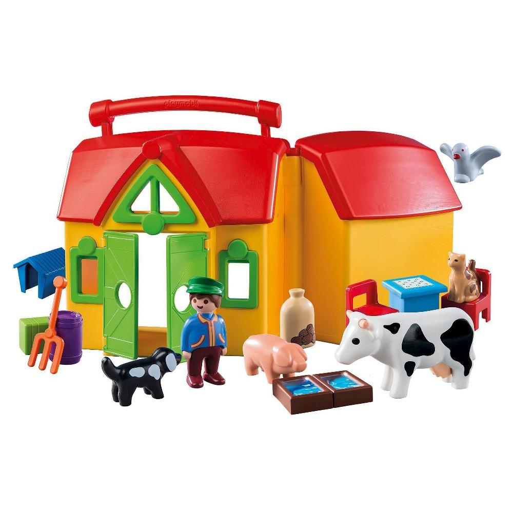 Playmobil 1.2.3 My Take Along Farm, Multo Colored