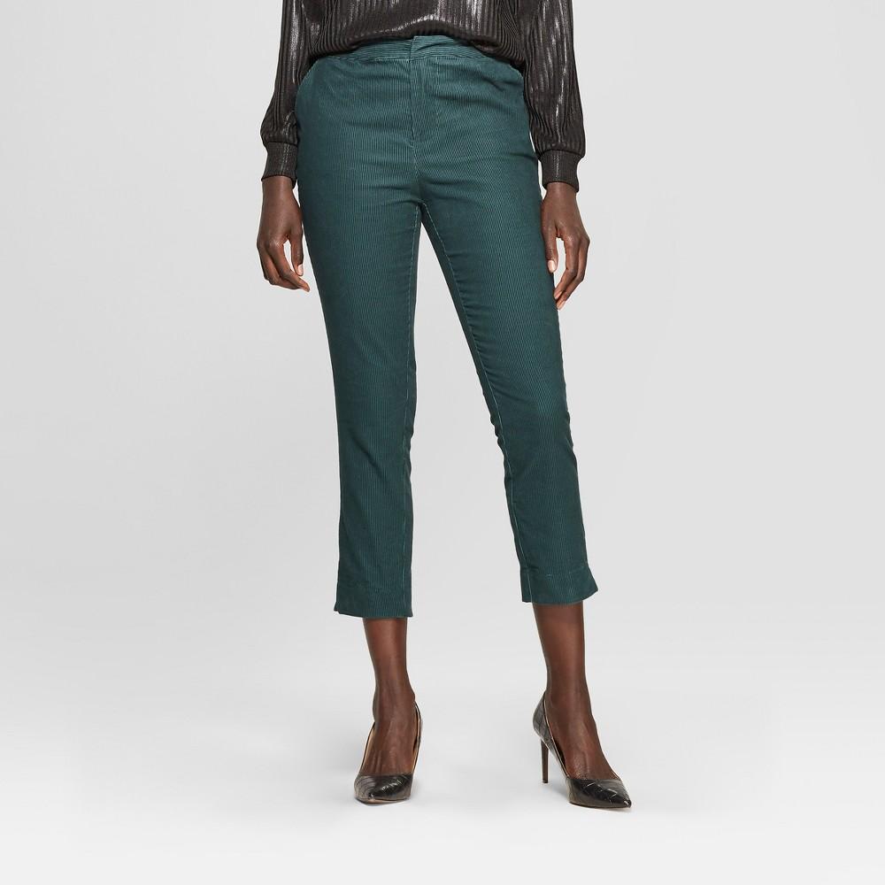 Women's Corduroy Jogger Crop Pants - Who What Wear Pine 14, Green