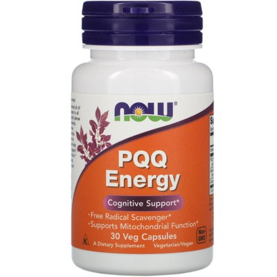 Now Foods PQQ Energy, 20 mg, 30 Veg Capsules, Herbal Supplements
