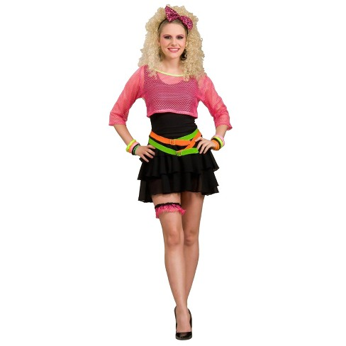 Women's 80's Groupie Costume - One Size Fits Most - image 1 of 1