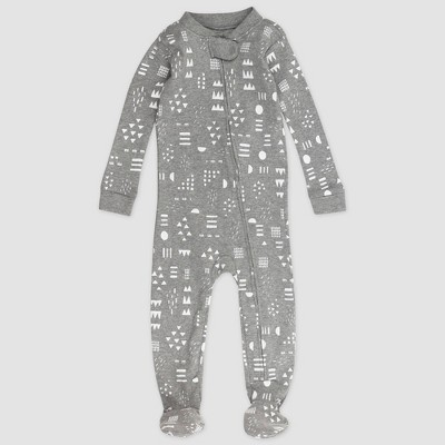 Honest Baby Play Organic Cotton Footed Pajama - Gray 12M